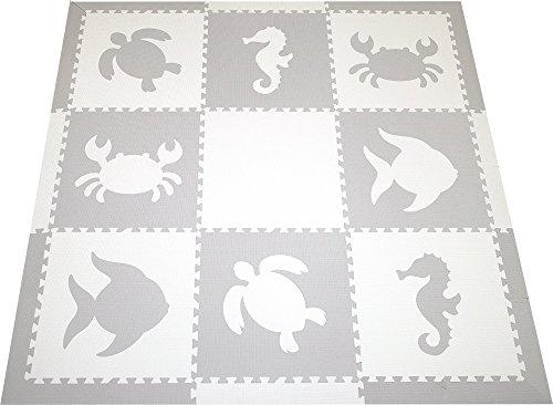 SoftTiles Sea Animals Interlocking Foam Play Mat with Sloped Borders 78