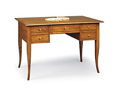 Scrivania In Legno Chiaro : Lo scrigno arredamenti scrivania scrittoio cassetti piano legno