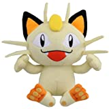 "Official Pokemon Best Wishes Plush Toy - 7"" Meowth (Japanese Import)"
