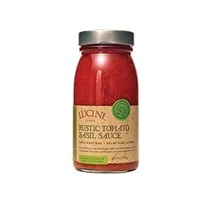 Lucini Rustic Tomato Basil Pasta Sauce, 25.5 Ounce