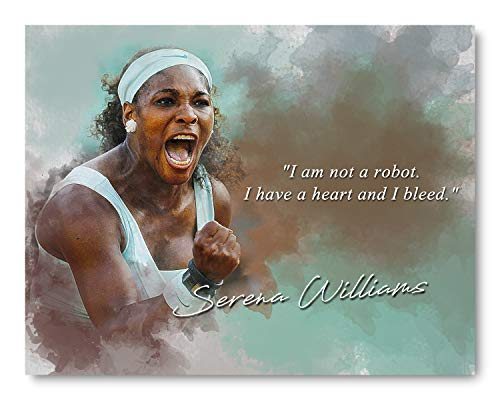 Ramini Brands I Have A Heart Serena Williams Inspirational Quote - 8 x 10 Unframed Print - Wall Art for Bedrooms, Offices, Living Rooms - Stunning Gift for Tennis Players, Coaches and Fans