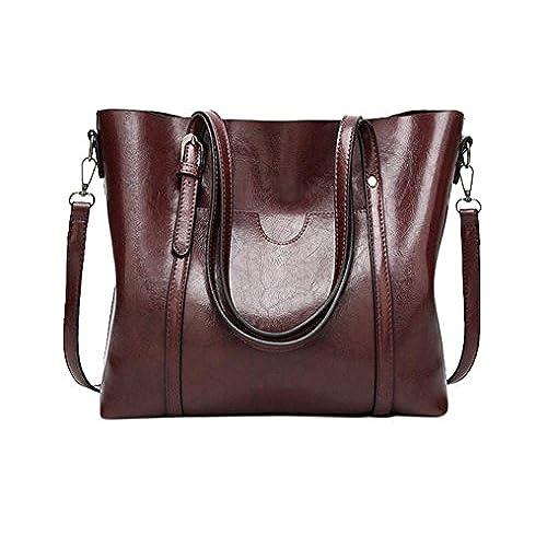 cf8b448cce Amma Zona Women Top Handle Satchel Leather Handbag Shoulder Bag Tote Purse