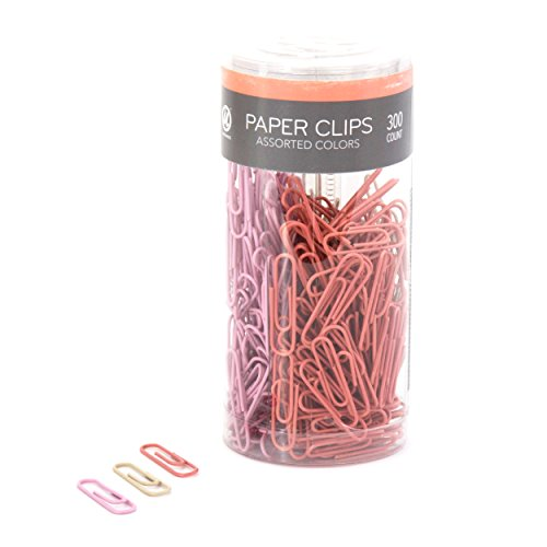 U Brands Paper Clips, Medium 1-1/8-Inch, Floral Nature Fashion Colors, 300-Count