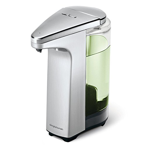 Soup Dispenser - simplehuman 8 fl. oz. compact sensor pump with soap sample brushed nickel,