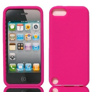 Bundle Accessory for Apple Ipod Touch 5 - Pink Silicon Skin Soft Case Protector Cover + Lf Stylus Pen + Lf Screen Wiper