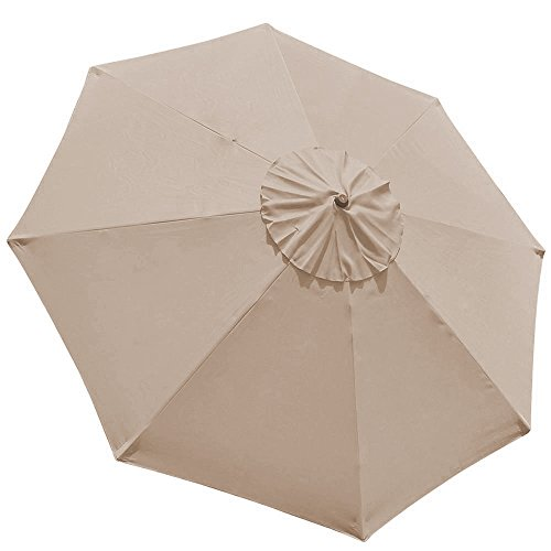 elite shade 9ft patio umbrella market table outdoor umbrella replacement canopy cover 8 ribs beige - Patio Umbrella Replacement Canopy