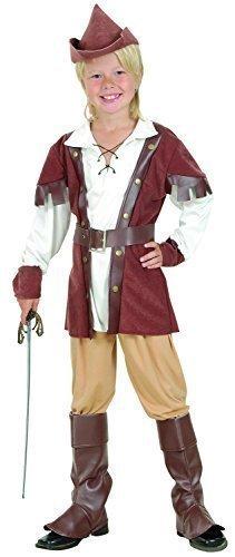 Bristol Novelty Traje de Robin Hood Deluxe (L), Edad aprox 7-9 ...
