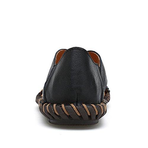 De Plage Hommes Noirs Chaussures Manuel Semelle Flop travail En Sandales Sandales Véritables Cuir À Chaussures De Vachette Occasionnels Hommes Flip De Non Les Slip Pour qtxwEA6Cn