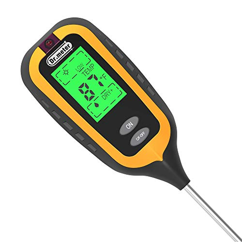 Dr.meter S40P-V 4 in 1 Soil Moisture meter, Soil Tester for Sunlight Intensity, Soil pH, Soil Moisture, and Soil Temperature