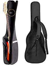ivolks Guitar Bag Electric,Bass Guitar Gig Bag,7mm Padding Padded Backpack with Reflective Bands