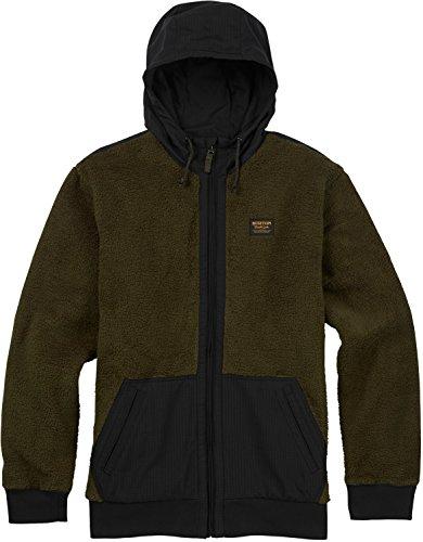 Jersey Hooded Burton (Burton Men's Tribute Full-Zip Fleece Hoodie, Forest Night, Large)