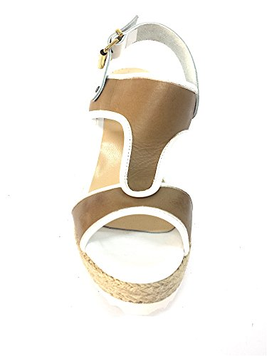 MELLUSO Scarpa corda alta sandalo pelle zeppa 052700 donna SABBIA OfwxEqOrS