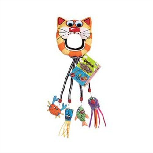 Fat Cat Catfisher Doorknob Hanger with 4 Catnip Lures ()