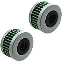 SZHSM 2Pcs Outboard Fuel Filter Elements 40/50/60Hp, Fuel Filter, for Honda Outboard 40/50/60HP Part # 16911-ZZ5-003 BF40D BF50D BF60A BFP60A (Color : Green)