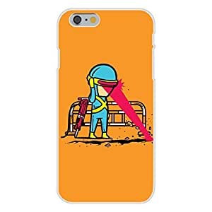 "Apple iPhone 6 Custom Case White Plastic Snap On - ""Part-Time JOB Road Construction"