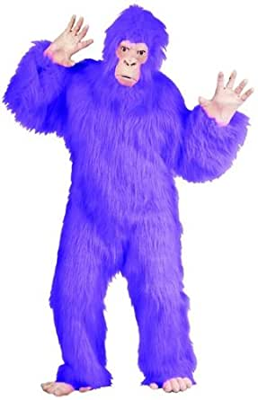 Gorilla Costume Lavender Plush Adult Standard