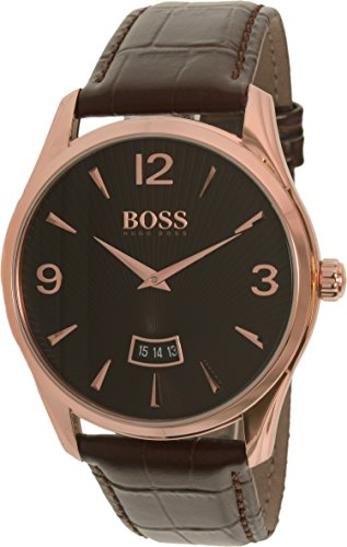 Hugo Boss Men's 1513426 Rose Gold Leather Quartz Watch