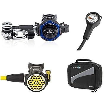 Image of Diving Packages Hollis Aqua Lung Legend LX Regulator, 150LX Octopus, Seac SPG Pressure Gauge Console, Regulator Bag