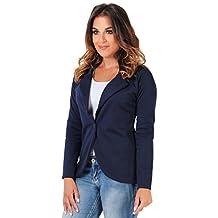 KRISP Womens Smart Casual One Button Fit Tailored Blazer Jacket