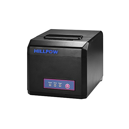 HILPOW P2 Thermal Printer, High Speed Pos Receipt Printer USB Device with Auto cutter, Supports 80MM & 58MM Paper, 1 Year Warranty (USB+COM+LAN Interface) - Receipt For Warranty