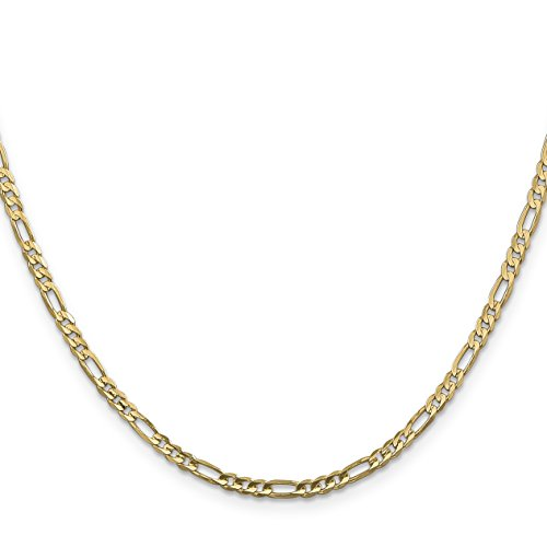 14k Gold 2.9mm Concave Open Figaro Chain 16