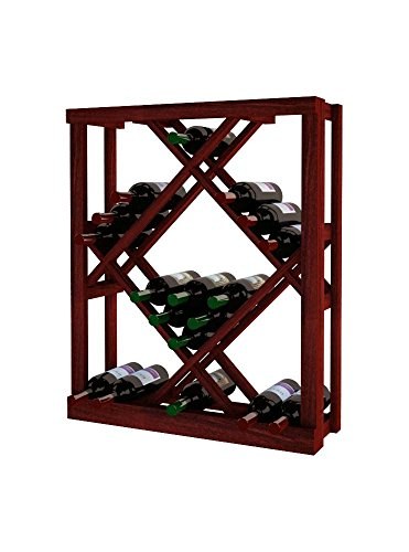 Wine Cellar Innovations TR-CM-ODIAM-A3 Traditional Series Open Diamond Bin Wine Rack, Premium Redwood, Classic Mahogany ()