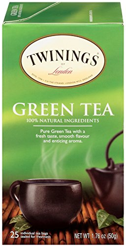 Twinings of London Pure Green Tea Bags, 25 Count (Pack of 6) For Sale