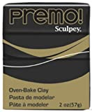 Premo Sculpey Polymer Clay 2 Ounces-Black