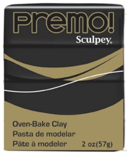 Sculpey PE02 5042 Oven Bake Clay premo!-Black Polyform Products