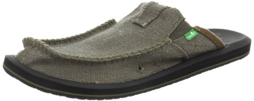 Sanuk Men's You Got My Back Ii Slip On, Army, 9 M Us