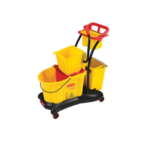 Rubbermaid Commercial FG778000YEL WaveBrake Side Press Mopping Trolley, 8.75-Gallon Capacity, Yellow by Rubbermaid Commercial Products