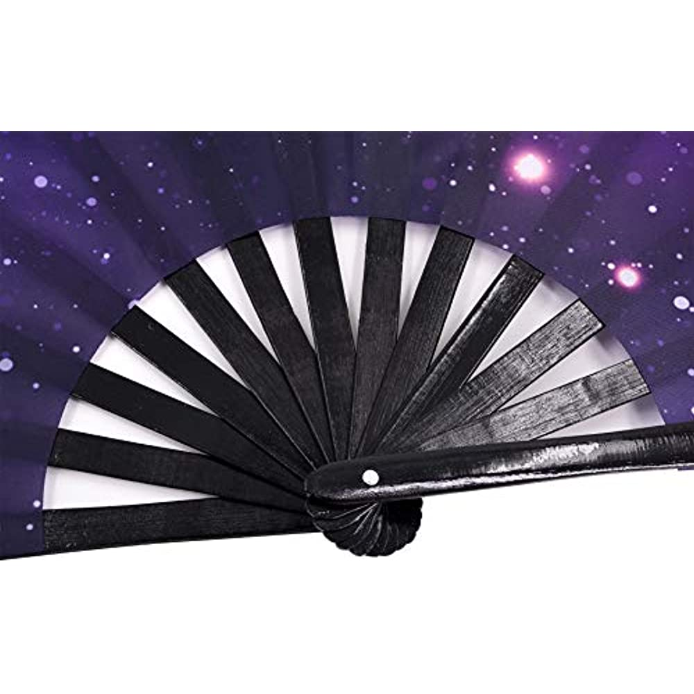 Folding Nylon-Cloth Hand Fan Stage Dancing Cosplay Wedding Decoration Gifts
