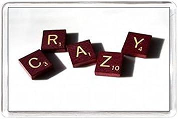 Imán para nevera citas diciendo coleccionistas regalo presente novedad Scrabble juego unidades Crazy Spell Art: Amazon.es: Hogar