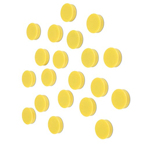 Scribble 1 Inch Yellow Office Magnets (20 Pack), Colorful Round Refrigerator Magnets, Perfect for Whiteboards, Lockers & Fridge.