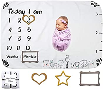 OupsTech Baby Age Milestone Blanket