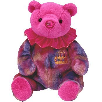 Ty Beanie Baby January Garnet Birthstone Teddy Happy Birthday Bear