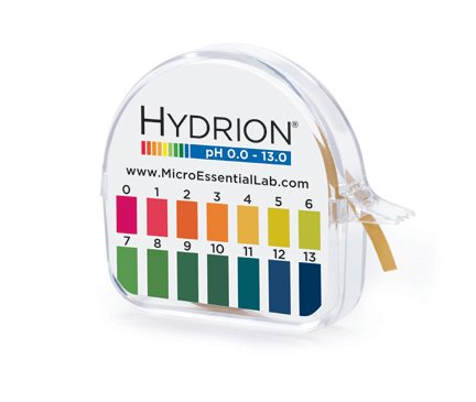 Hydrion Ph paper (93) with Dispenser and Color Chart - Full range Insta Chek ph- (Nitrazine Paper)