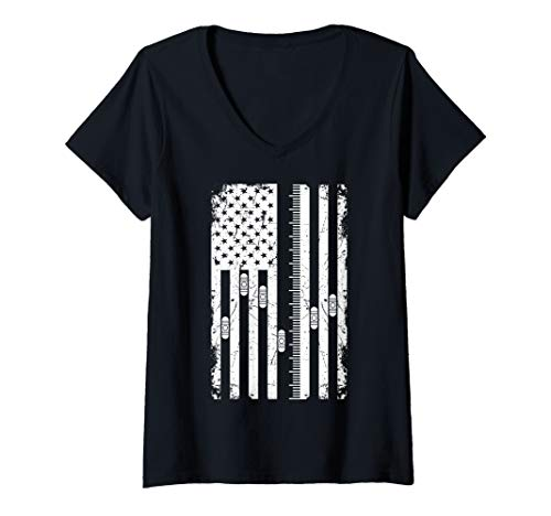 Womens Cool And Funny Soundboard US Flag Art For Men And Women V-Neck T-Shirt (Best Soundboard For Pc)