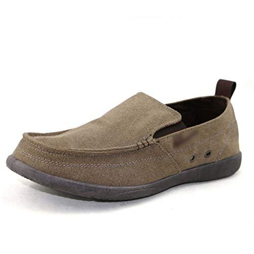 42 casual Coffee Scarpe Coffee scarpe tela estiva Color tendenza da di di Color color denim scarpe selvaggia uomo WangKuanHome tela scarpe uomo da Size 1xvBdBq