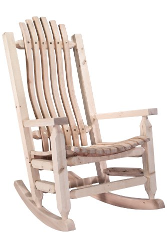 Montana Woodworks MWHCLR Homestead Collection Rustic Adult Rocker, Ready to Finish
