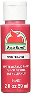 Apple Barrel Acrylic Paint in Assorted Colors (2 Ounce), 20784 Red Apple