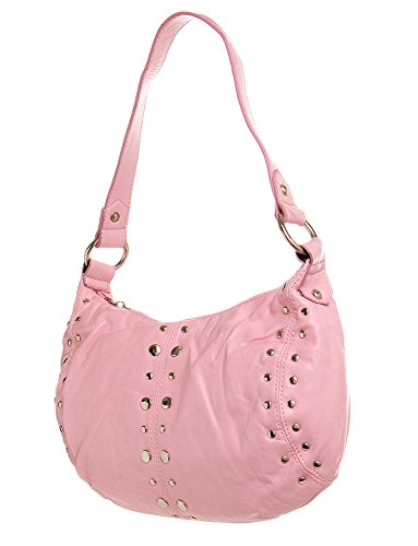 women Handbag Pink All Cute Toned For Stiched Silver Shoulder by Hobo handbag Handbags ww0qgIfp