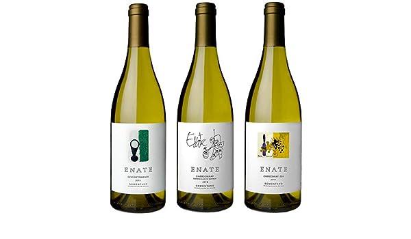 ENATE Estuche de Vinos Blancos - ENATE Gewürztraminer, añada 2019 - ENATE Chardonnay fermentado en barrica, añada 2018 - ENATE Chardonnay - 234, añada 2019 - Paquete de 3 Botellas - 75cl: Amazon.es: Alimentación y bebidas