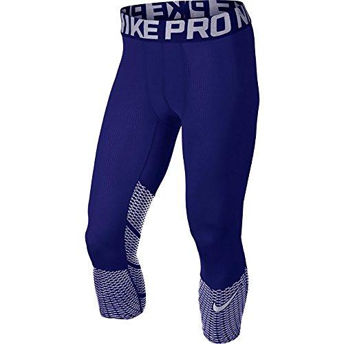 Nike Mens Pro Hypercool Max 3/4 Training Leggings (Small, Deep Royal Blue (747427-455) / Deep Royal Blue) (Stretch Power Pant 3/4)