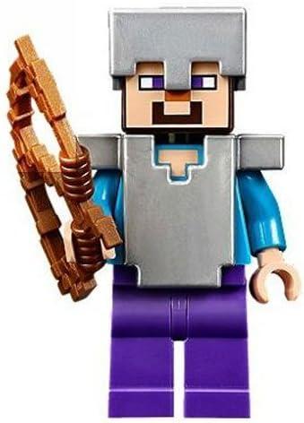 Lego Minecraft Steve with Iron Armor & Bow
