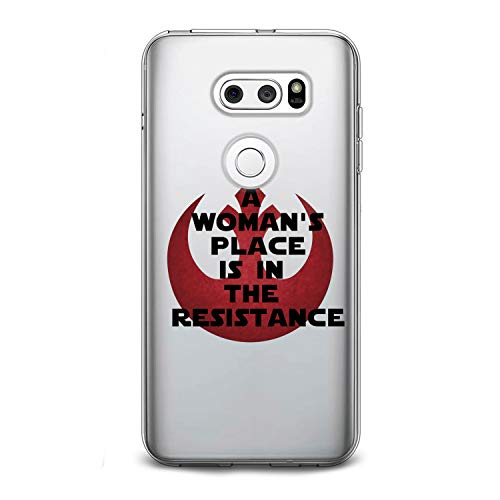 Lex Altern TPU Case for LG G8 Stylo 4 K11 G7 ThinQ G6 V40 V35 V50 K8 New Star Wars Clear Women Quote Cute Symbol Cover Gentle Painted Print Creative Child Silicone Teen Modern Adorable Red Art Glam -