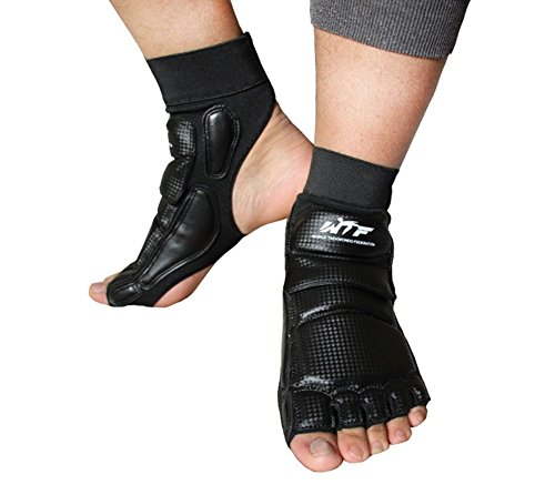 Foot Guard (Lorsoul Taekwondo Foot Protector Gear Martial Arts Fight Feet Guard Ankle Support for Men Women kids Boxing Kicking Punch Bag Sparring Training MMA UFC (XX-Large, Black))
