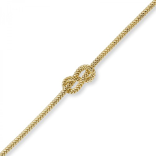 Chaîne Collier Nœud mer nœuds Huit nœuds en or jaune 58545cm