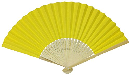yellow folding fan - 6