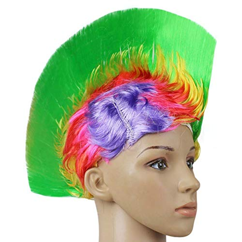 Party Diy Decorations - Festival Party Rainbow Mohawk Hair Wig Rooster Fancy Costume Punk Rock Halloween Decor - Party Decorations Party Decorations Mohawk Punk Rainbow Birthday Osomatsu Hair
